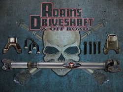 ADAMS DRIVESHAFT JK REAR 1310 CV DRIVESHAFT GREASABLE U-JOINTS [HEAVY DUTY SERIES]