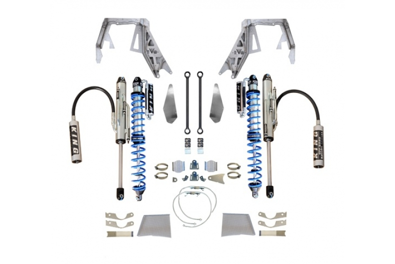 EVO MFG JEEP WRANGLER JL/GLADIATOR FRONT DOUBLE THROWDOWN, COILOVER/BYPASS (BLACK) SPICER D60