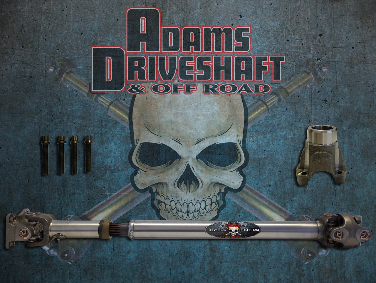 ADAMS DRIVESHAFT JK FRONT 1310 CV DRIVESHAFT SOLID U-JOINTS [EXTREME DUTY SERIES]