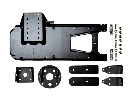 EVO MFG JL HD HINGED TIRE CARRIER, BLACK
