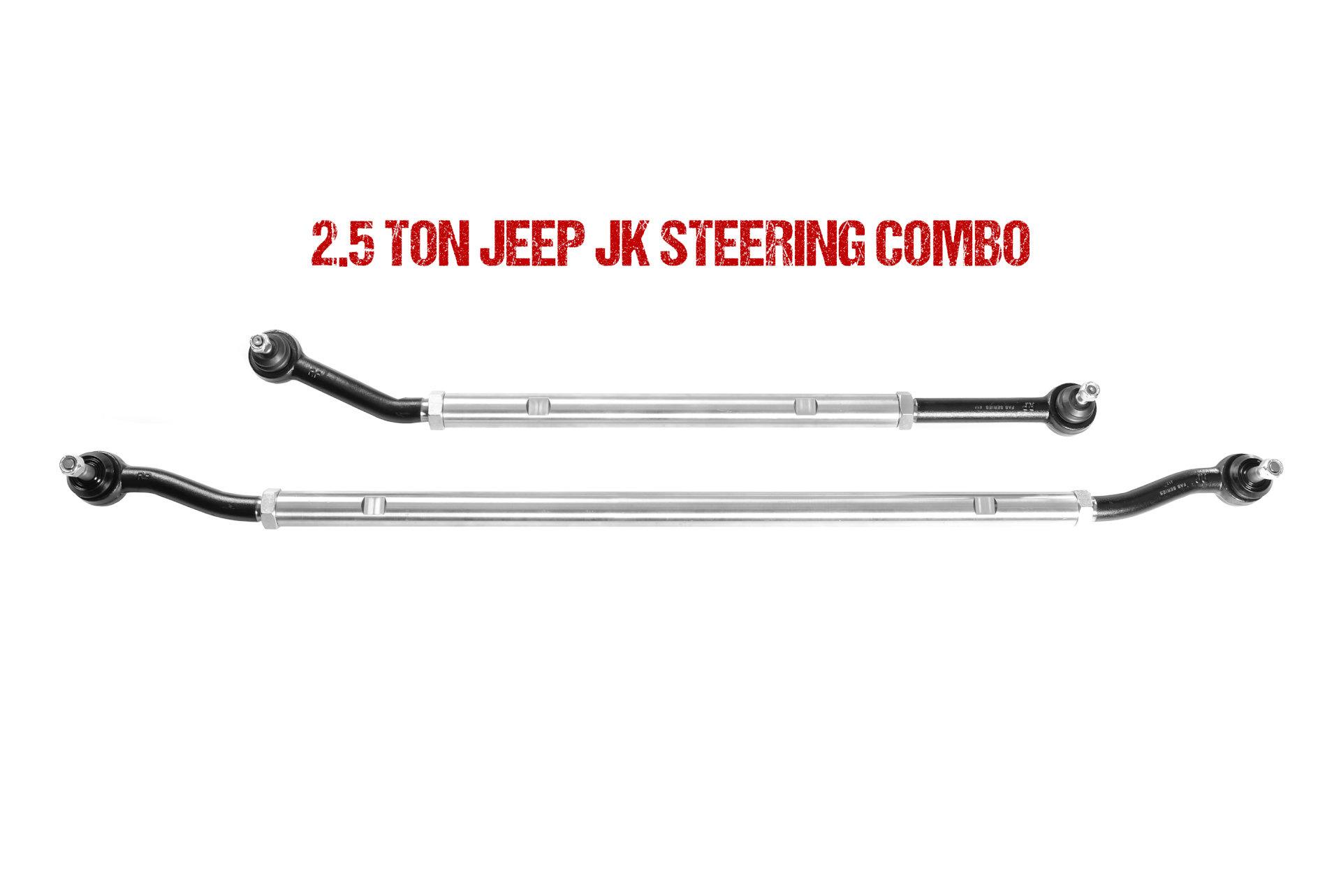 Jeep JK 2 5 Ton Rock Series Drag Link & Tie Rod Combo