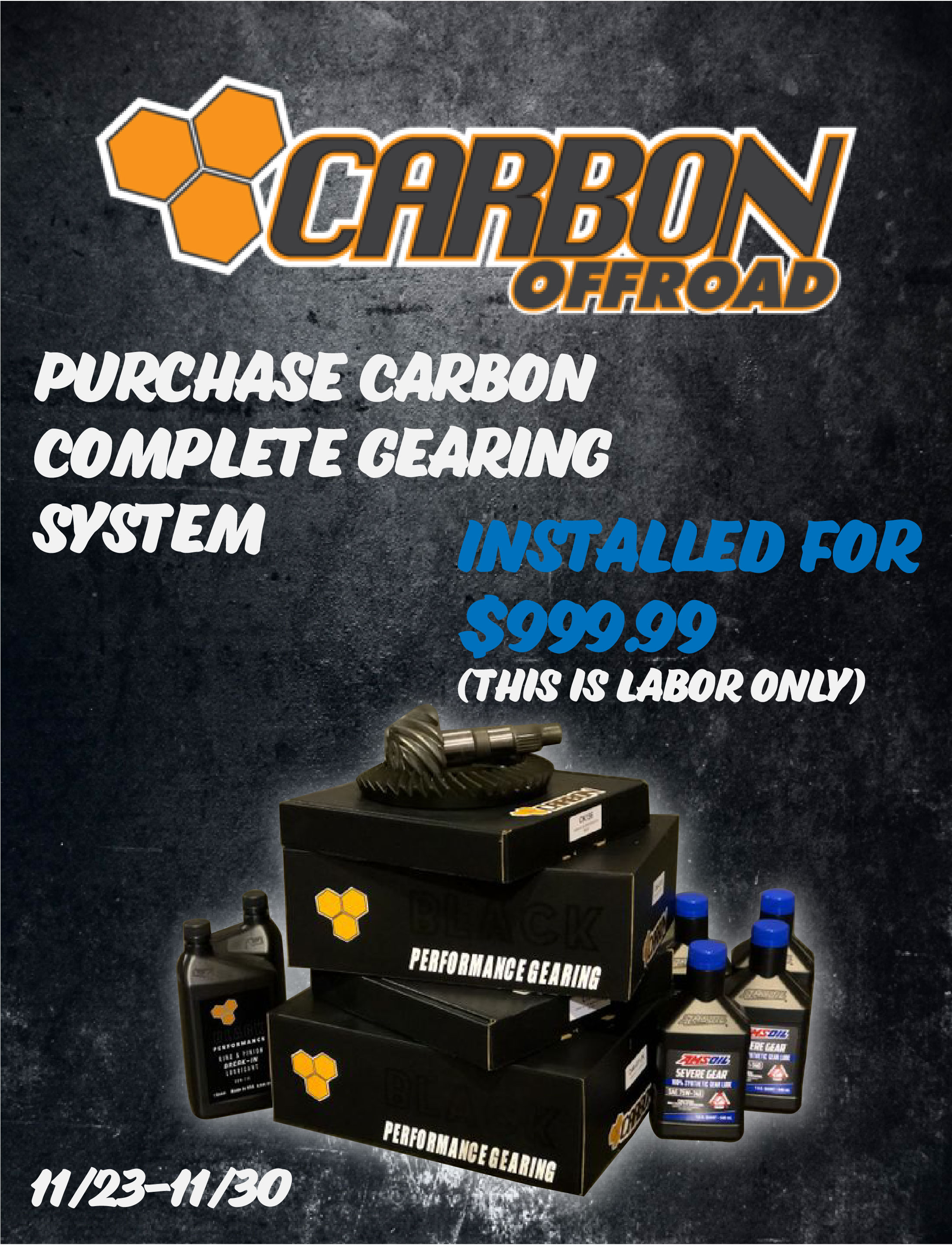 Purchase full Carbon Gear System and qualify for $999.99 install