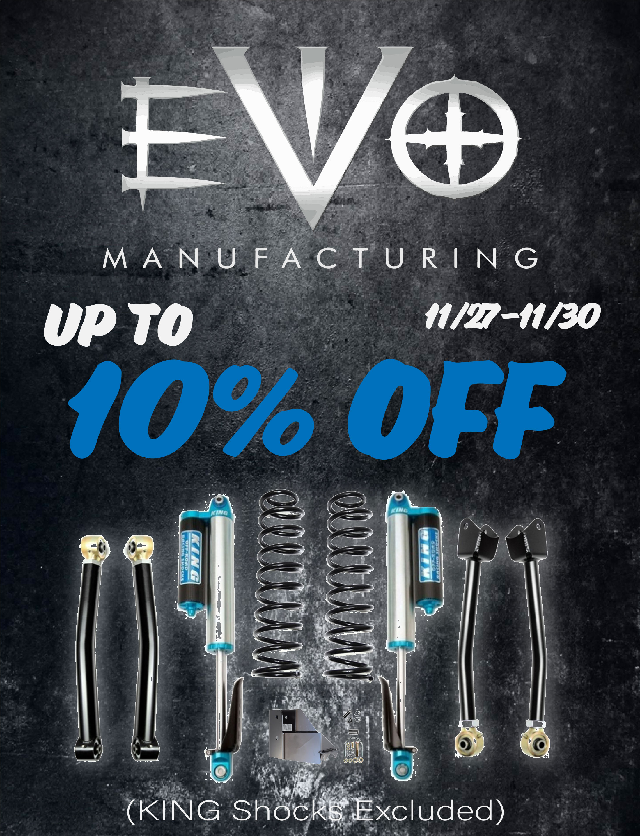 Up to 10% OFF EVO MFG