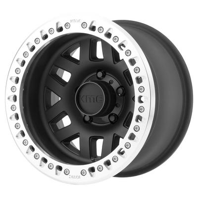 KMC KM229 Machete Crawl Wheel, 17x9 with 5 on 5 Bolt Pattern - Satin-Black / Machined - KM22979050738N