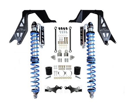EVO MFG JL NV2514 FRONT BOLT-ON COILOVER KIT BLACK