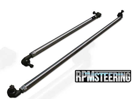 RPM Steering JK 1-Ton Aluminum Tie Rod and Drag Link (Factory Location/Under Knuckle)