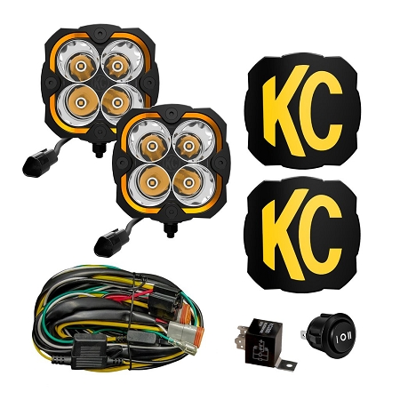 KC FLEX ERA® 4 - 2-LIGHT SYSTEM - 80W SPOT BEAM - 286