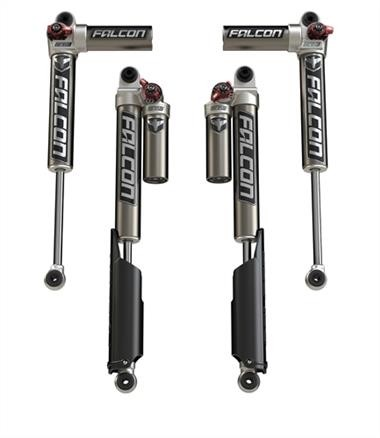 "TeraFlex Falcon Series 3.3 Fast Adjust Piggyback Shock Absorbers (2-4.5"" Lift)"