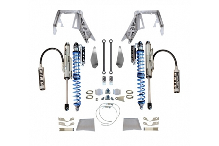 EVO MFG JEEP WRANGLER JL/JT FRONT DOUBLE THROWDOWN, COILOVER/BYPASS (BLACK) SPICER D60