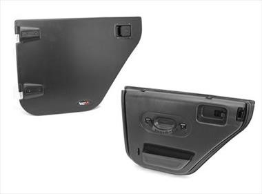 Rugged Ridge Rear Paintable ABS Half Doors with Textured Black Inner panels - 11509.02