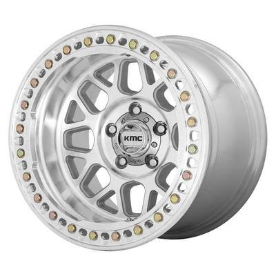 KMC KM235 Grenade Crawl Wheel, 17x9 with 5 on 5 Bolt Pattern - Machined - KM23579050538N