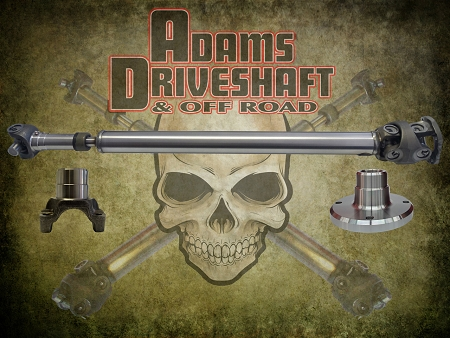 ADAMS DRIVESHAFT JL SPORT FRONT AND REAR 1350 CV DRIVESHAFTS [EXTREME DUTY SERIES]