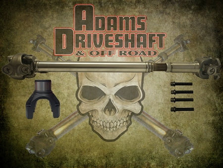 ADAMS DRIVESHAFT JL RUBICON FRONT 1350 CV DRIVESHAFT OEM FLANGE STYLE [EXTREME DUTY SERIES]