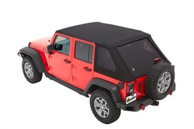 Bestop Trektop NX Plus with Tinted Windows  JK (Black Twill) - 56853-17