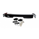 EVO MFG JK REAR STEEL FASCIA AND BOLT-ON D-RING PACKAGE (BLACK POWDERCOAT)