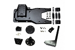 EVO MFG JK HD HINGED GATE TIRE CARRIER, WITH JACK AND LICENSE/ROTOPAX MOUNT PACKAGE