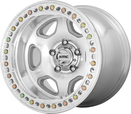 KMC KM233 Hex Wheel, 17x9 with 5 on 5 Bolt Pattern - Machined - KM23379050538N