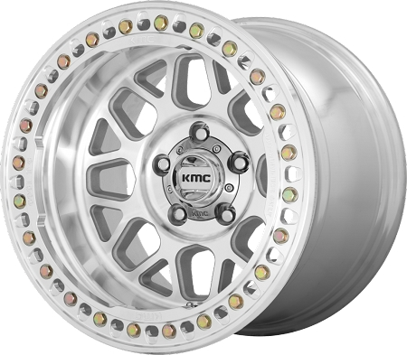 KMC KM235 Grenade Crawl Wheel, 17x9 with 8 on 6.5 Bolt Pattern - Machined - KM23579080538N