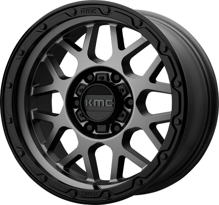 KMC KM535 Grenade Off-Road Wheel, 17x8.5 with 5 on 5 Bolt Pattern - Gray - KM53578550400