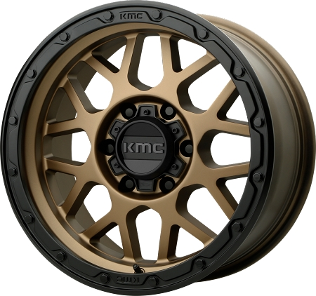 KMC KM535 Grenade Off-Road Wheel, 17x8.5 with 5 on 5 Bolt Pattern - Matte Bronze - KM53578550600