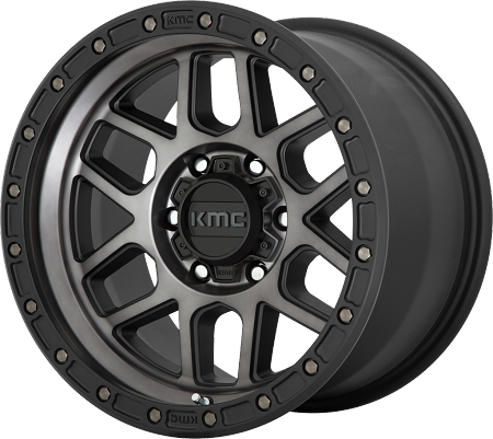 KMC KM544 Mesa Wheel, 17x8.5 with 5 on 5 Bolt Pattern - Black / Gray - KM54478550400