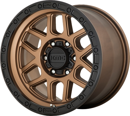 KMC KM544 Mesa Wheel, 17x8.5 with 5 on 5 Bolt Pattern - Bronze - KM54478550600