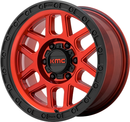 KMC KM544 Mesa Wheel, 17x8.5 with 5 on 5 Bolt Pattern - Candy Red - KM54478550900