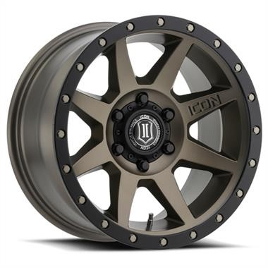 Icon Dynamics Rebound Series Wheel, 17x8.5 with 5x5 Bolt Pattern - Bronze Matte