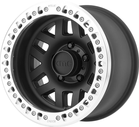 KMC KM229 Machete Crawl Wheel, 17x9 with 8 on 6.5 Bolt Pattern - Black / Machined - KM22979080738N