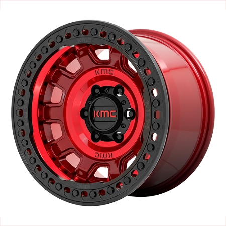 KMC Tank Beadlock KM236 17X9 5X5.0 CANDY RED -38MM - KM23679050938N