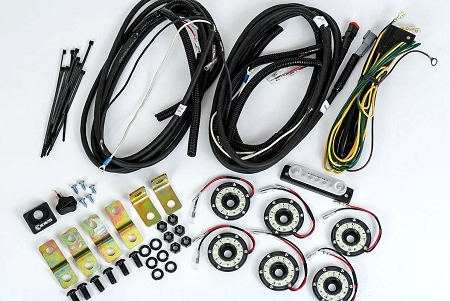 KC Cyclone LED Rock Light Kit for Jeep Wrangler JK/JL